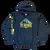 Mt Seymour Heritage Logo  - Hooded Sweatshirt - Black - Front