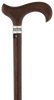 Genuine Wenge Wood Derby Walking Cane With Wenge Shaft And Pewter Collar