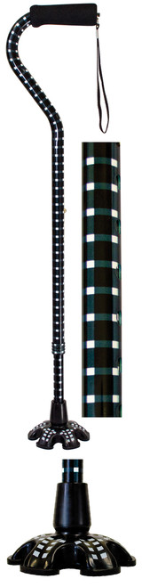 Essential Medical Houndstooth Offset Handle Cane