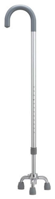 Extra Tall Aluminum Adjustable Crook Handle Rigid Base Walking Cane