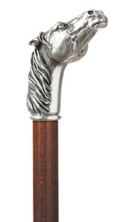 Alydar Silver Plated Horse Head Cane