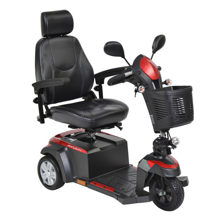 Drive Medical Ventura 3 DLX 3 Wheel Power Mobility Deluxe Scooter