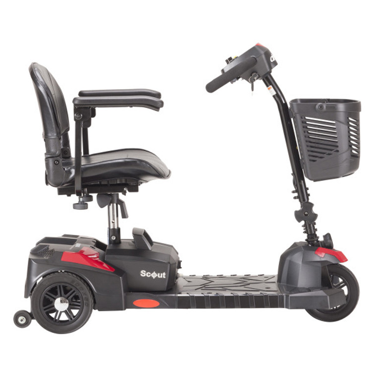 Scout Compact  3 Wheel Travel Power Scooter with Extended Battery