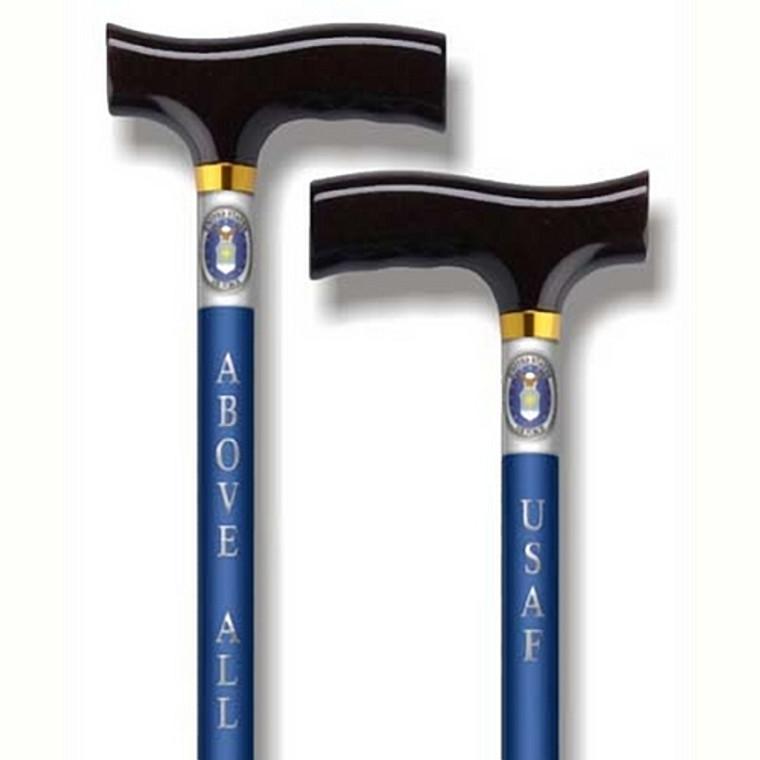US Air Force Adjustable Blue Shaft Walking Cane