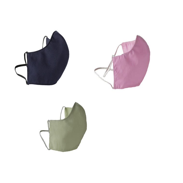 Washable and Reusable Fitted 3 Ply Cloth Face Mask