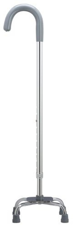 Extra Tall Aluminum Adjustable Crook Handle Quad Cane