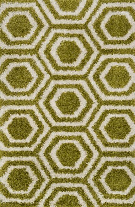 Loloi BARCELONA SHAG BS-09 Green Ivory | Hot Deals