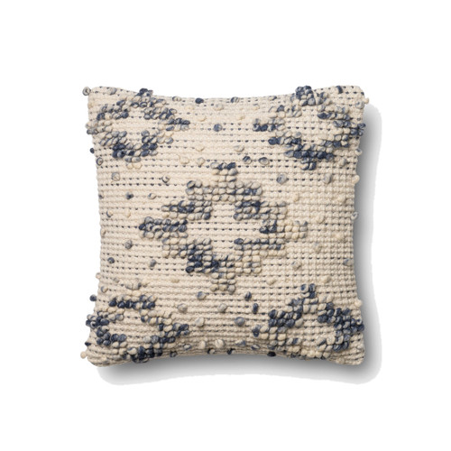 Magnolia Home P0420 BLUE IVORY Pillow by Joanna Gaines