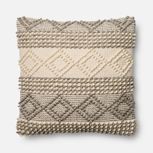 Magnolia Home P0460 GREY IVORY Pillow by Joanna Gaines