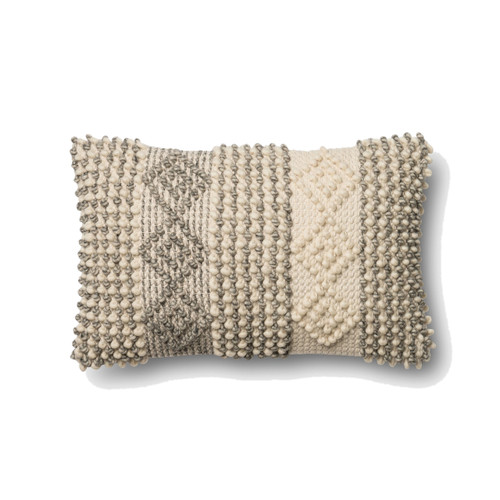 Magnolia Home P0461 GREY IVORY Pillow by Joanna Gaines
