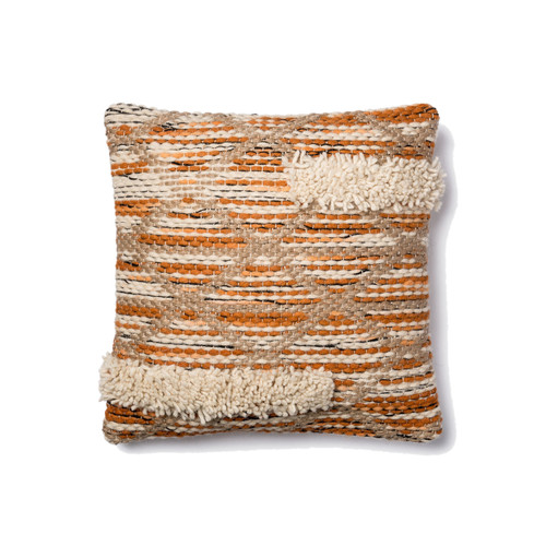 Magnolia Home P1006 ORANGE IVORY Pillow by Joanna Gaines