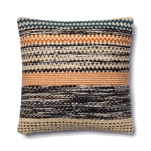Magnolia Home P1009 ORANGE BLUE Pillow by Joanna Gaines