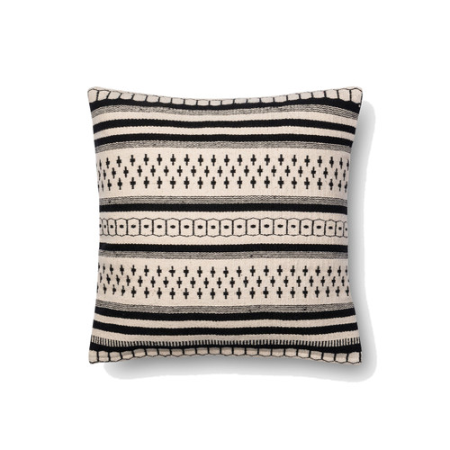 Magnolia Home P1011 BLACK WHITE Pillow by Joanna Gaines