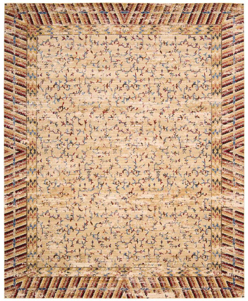 "Barclay Butera Dynasty ""Lotus"" Ochre Area Rug by Nourison"