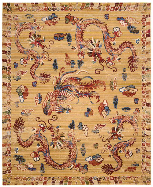"Barclay Butera Dynasty ""Empire"" Ochre Area Rug by Nourison"