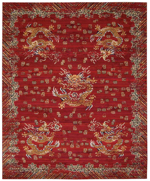 "Barclay Butera Dynasty ""Emperor"" Oxblood Area Rug by Nourison"