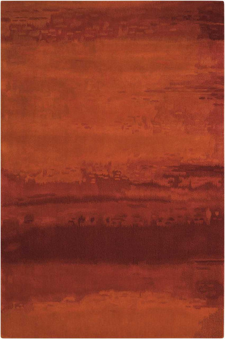 Calvin Klein Home Luster Wash Russet Tones Rust Area Rug by Nourison