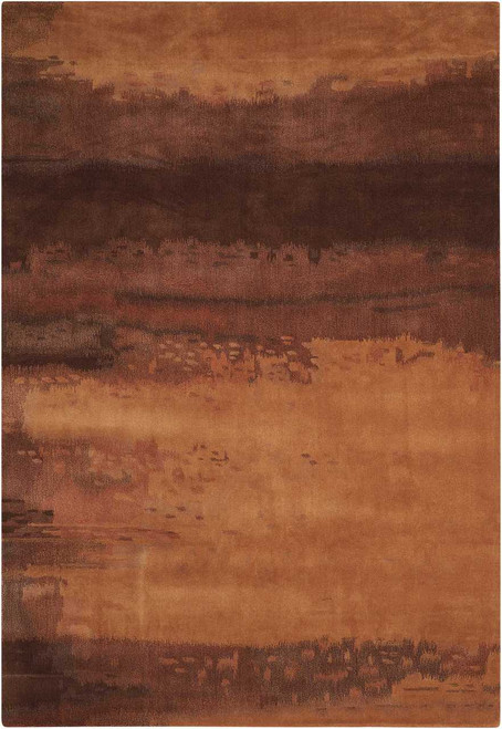 Calvin Klein Home Luster Wash Amber Wash Copper Area Rug by Nourison