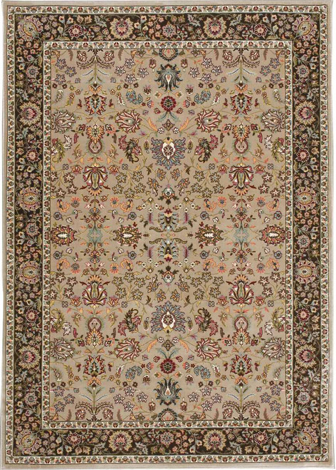 """Kathy Ireland Antiquities """"Royal Countryside"""" Cream Area Rug by Nourison"""