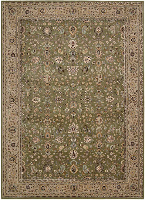 """Kathy Ireland Antiquities """"Royal Countryside"""" Sage Area Rug by Nourison"""