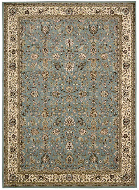"""Kathy Ireland Antiquities """"Royal Countryside"""" Slate Blue Area Rug by Nourison"""
