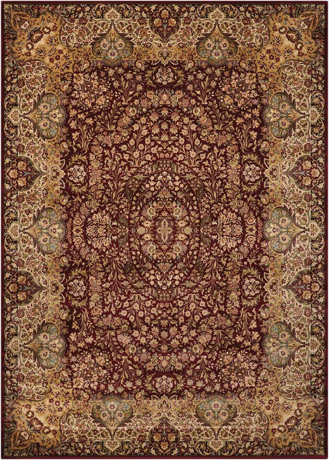 """Kathy Ireland Antiquities """"Stately Empire"""" Burgundy Area Rug by Nourison"""
