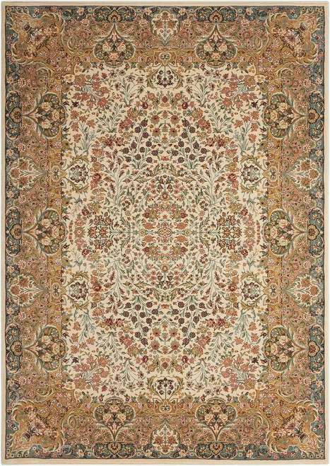 """Kathy Ireland Antiquities """"Stately Empire"""" Ivory Area Rug by Nourison"""