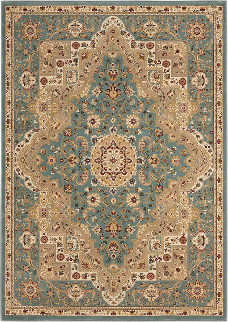 """Kathy Ireland Antiquities """"Imperial Garden"""" Slate Blue Area Rug by Nourison"""