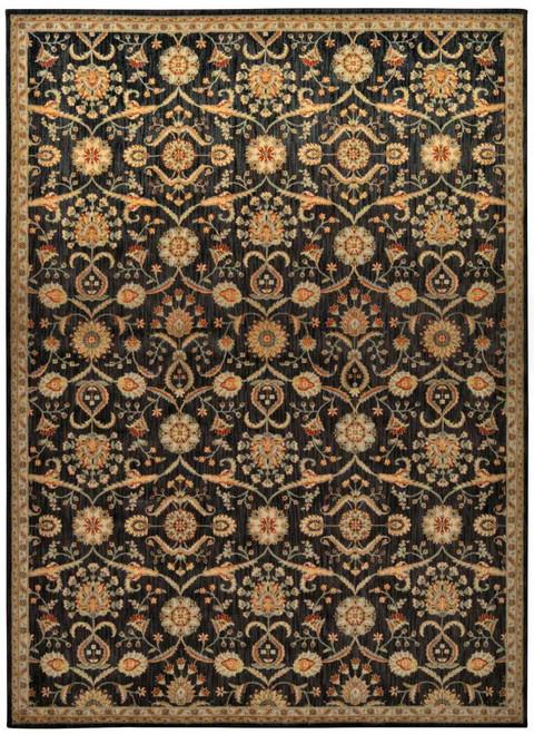 "Kathy Ireland Ancient Times ""Persian Treasure"" Black Area Rug by Nourison"