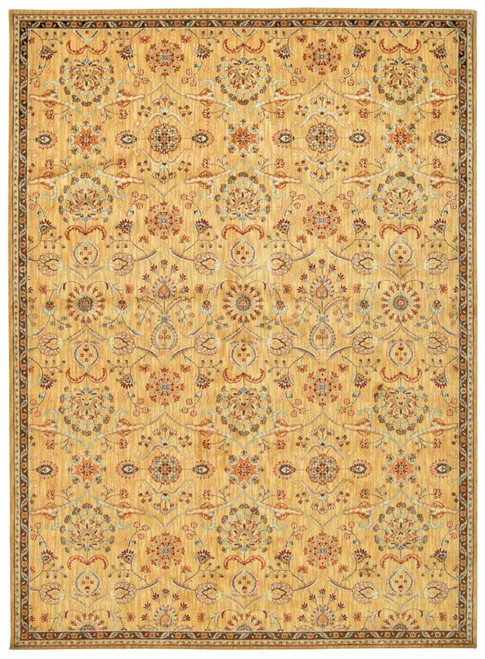 """Kathy Ireland Ancient Times """"Persian Treasure"""" Gold Area Rug by Nourison"""