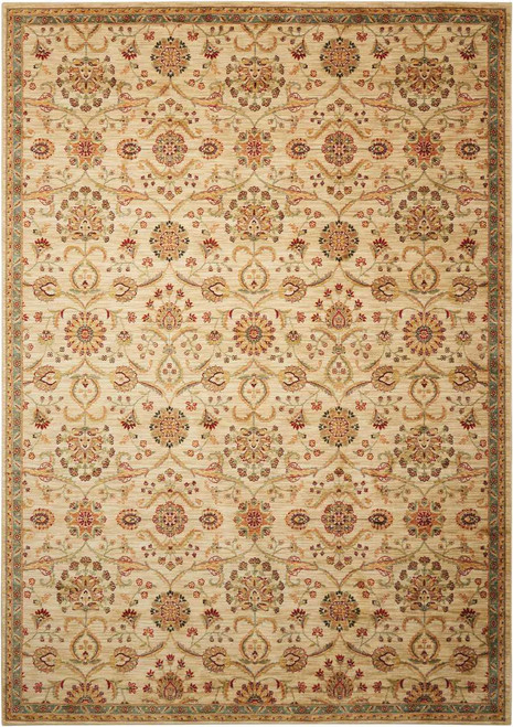 """Kathy Ireland Ancient Times """"Persian Treasure"""" Ivory Area Rug by Nourison"""