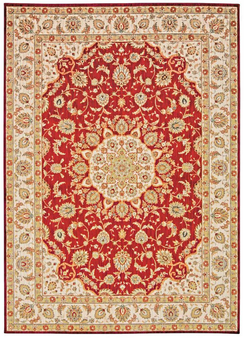 """Kathy Ireland Ancient Times """"Palace"""" Red Area Rug by Nourison"""