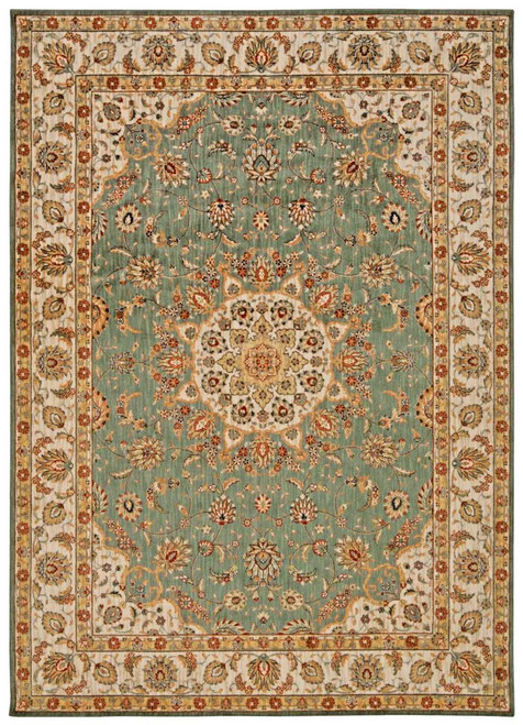 """Kathy Ireland Ancient Times """"Palace"""" Teal Area Rug by Nourison"""