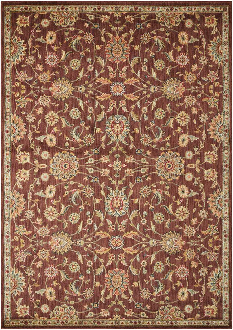 """Kathy Ireland Ancient Times """"Ancient Treasures"""" Brown Area Rug by Nourison"""