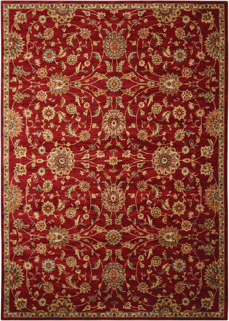 """Kathy Ireland Ancient Times """"Ancient Treasures"""" Red Area Rug by Nourison"""