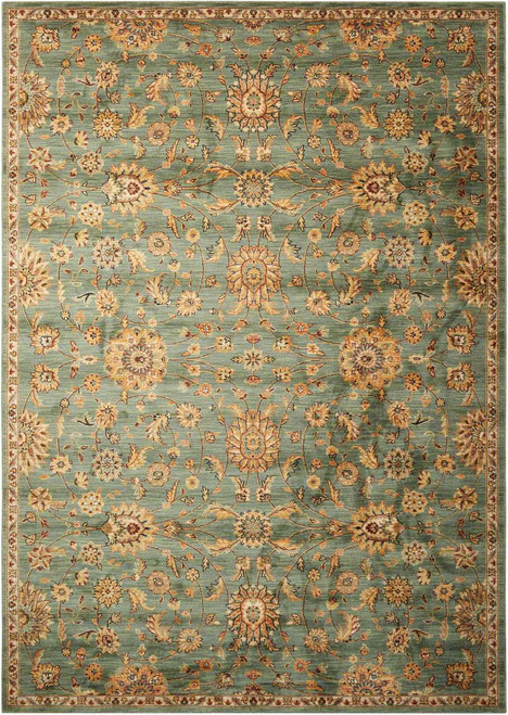 """Kathy Ireland Ancient Times """"Ancient Treasures"""" Teal Area Rug by Nourison"""