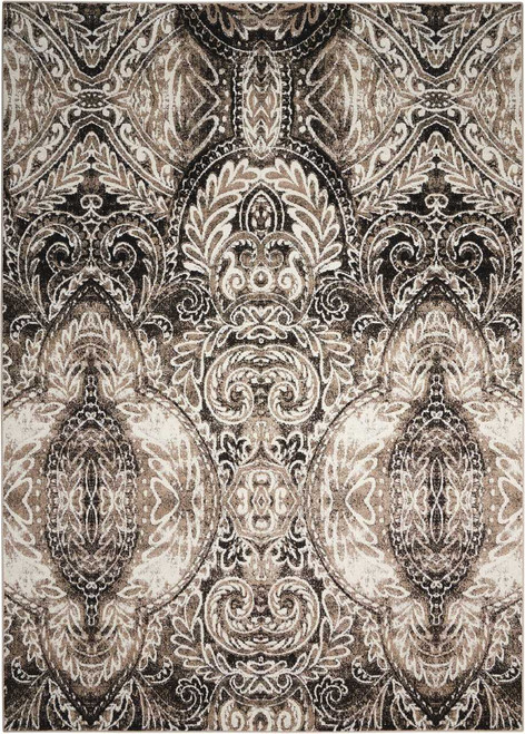 Michael Amini Glistening Nights Light Grey Area Rug by Nourison