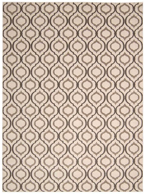 Michael Amini Glistening Nights Beige Area Rug by Nourison
