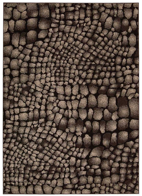 Michael Amini Glistening Nights Black Area Rug by Nourison