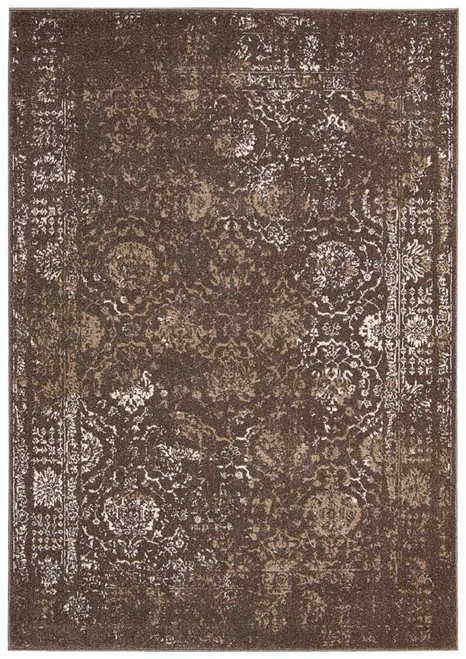 Michael Amini Glistening Nights Grey Area Rug by Nourison - MA510