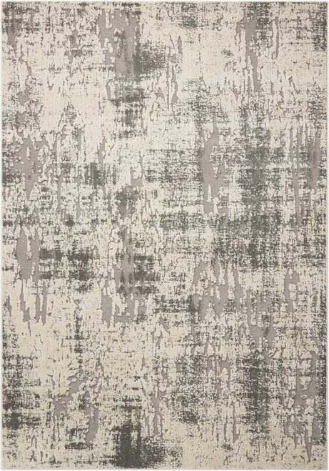 Michael Amini Gleam Ivory/Grey Area Rug by Nourison