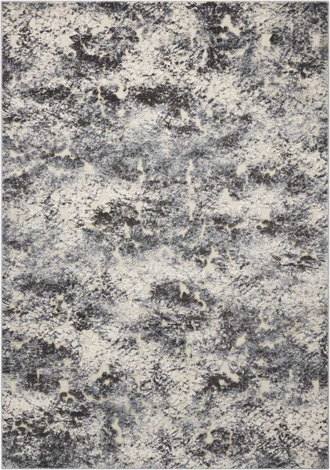 Michael Amini Gleam Ivory/Slate Area Rug by Nourison