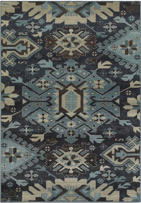 Oriental Weavers Linden OW-4302A NAVY | Hot Deals