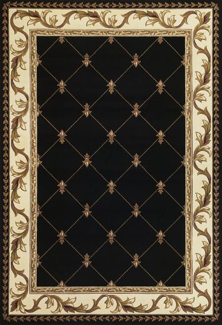 KAS Corinthian 5321 Black Fleur-De-Lis
