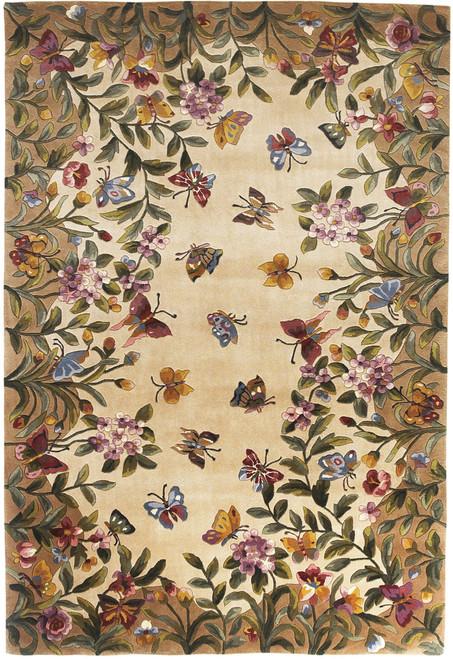 KAS Emerald 9019 Antique Beige Butterfly Garden