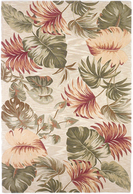 KAS Sparta 3148 Beige Palm Leaves