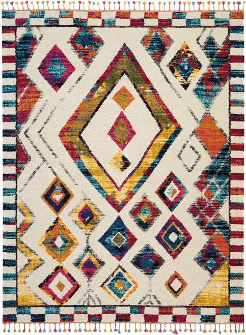 Nourison Nomad White Multicolor Colorful Area Rug