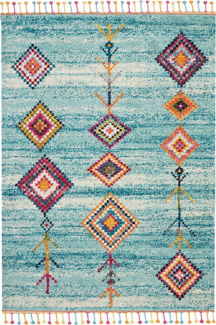Nourison Nomad Aqua Multicolor Scandinavian Area Rug