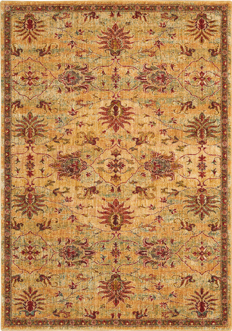 Nourison Jewel Beige and Red Area Rug