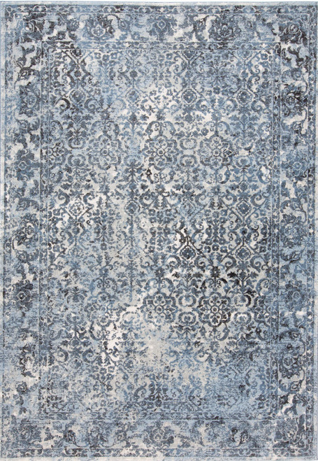 Feizy Home Ainsley 3900F Blue  -  Charcoal
